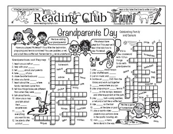 Grandparents Day Two-Page Activity Set