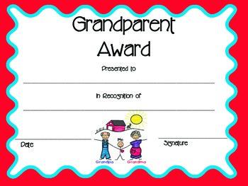 Grandparents Day Award/Certificate