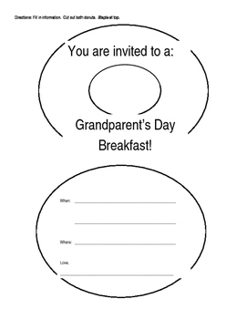 Grandparents Day Breakfast Invitation Template