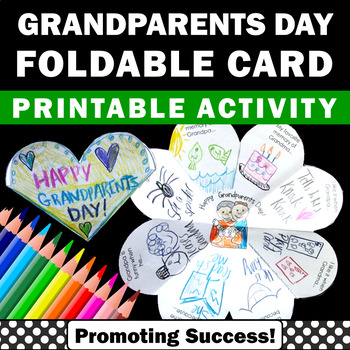 Grandparents Day Craft Card Foldable Writing & Coloring Cr