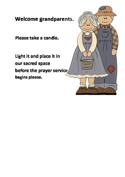 Grandparents Day Poster - invites grandparents to light a