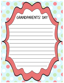 Grandparents' Day Sheet