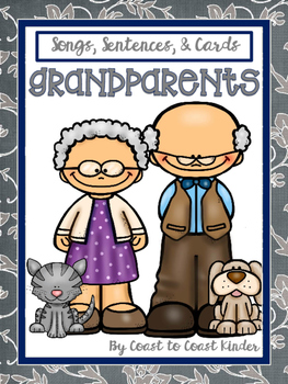 Grandparents Scrambled Sentences, songs, and cards