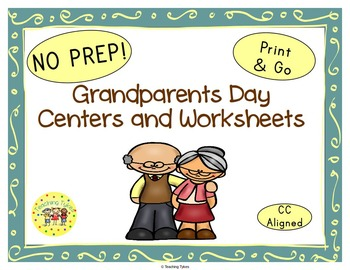 Grandparents Day Worksheets Activities Games Printables and More