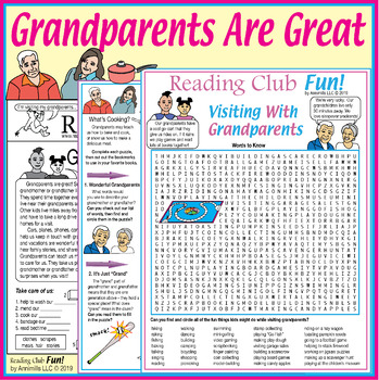 Grandparents are Great Two-Page Activity Set