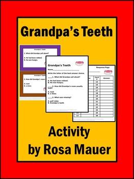 Grandpa's Teeth Reading Task cards