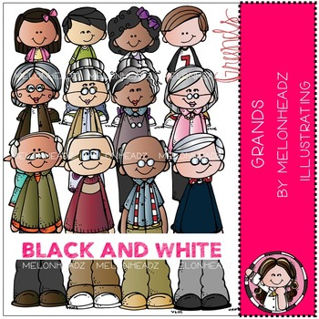 Melonheadz: Grands clip art - BLACK AND WHITE
