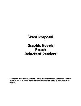 Grant Proposal for Elementary Library: Graphic Novels Reac