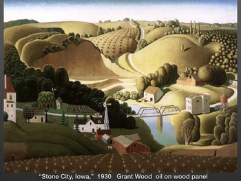 Grant Wood ~ Art History ~ Iowa ~ American Gothic ~ Real ~