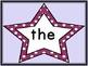 Grape Purple Dot Star  Fry First 100 Sight Word Flashcards