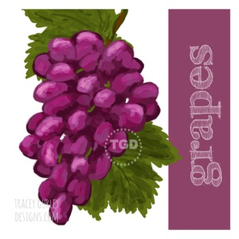 Grapes Clip Art - Grapes graphic, Grapes Printable Tracey