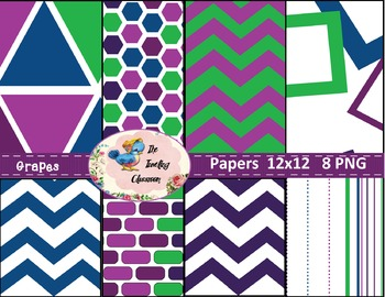 Grapes Papers (Digital Papers for Commercial Use)