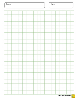 Graph Paper 0.4 x 0.4 inch Green
