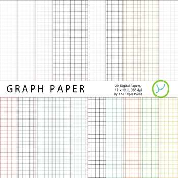 Graph Paper Background: 20 Digital Papers