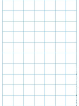 Graph Paper: Full Page Grid - 1 inch squares - 7x10 boxes