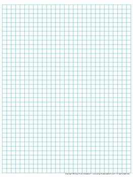 Graph Paper: Full Page Grid - quarter inch squares - 29x38