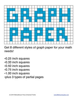 Graph Paper Templates - 8 different sizes and styles of gr