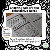 Graph Quadratic Equations Interactive Notes