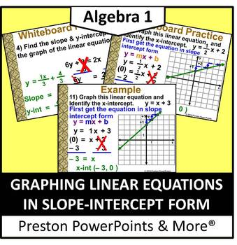 (Alg 1) Graphing Linear Equations in Slope-Intercept Form