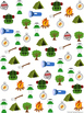 Graph and Tally Poster Set: Camping Pictures