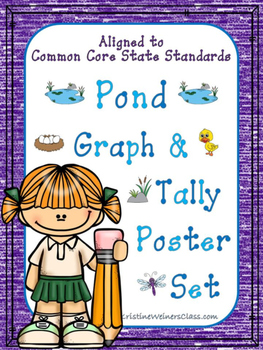 Graph and Tally Poster Set: Pond Pictures