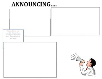 Graphic Organizer - Announcements