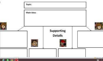 Graphic Organizer Companion to Main Idea  and Supporting D