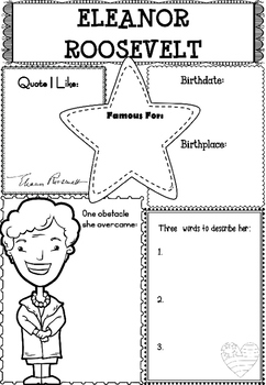 Graphic Organizer : Eleanor Roosevelt