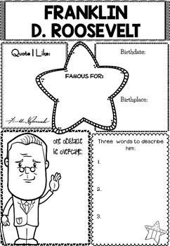 Graphic Organizer : Franklin D. Roosevelt