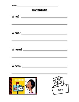 Graphic Organizer - Invitation Requirements