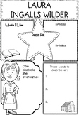 Graphic Organizer : Laura Ingalls Wilder