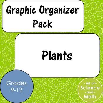 Graphic Organizer Pack - Plants - High School Science