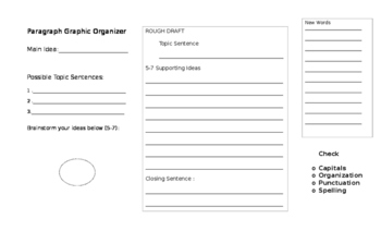 Graphic Organizer - Paragraphs