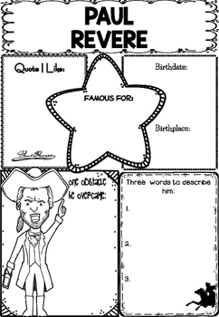 Graphic Organizer : Paul Revere