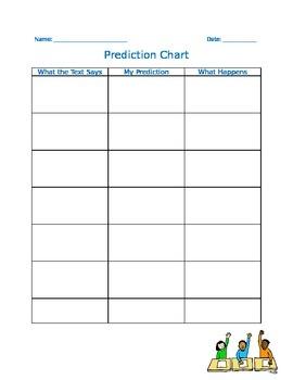 Graphic Organizer - Prediction Chart