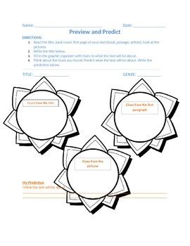 Graphic Organizer - Preview and Predict