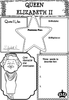 Graphic Organizer : Queen Elizabeth II
