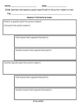 Graphic Organizer Ri2.8 Points & Reasons