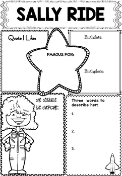 Graphic Organizer : Sally Ride