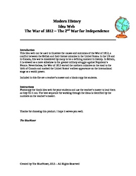 Graphic Organizer - The War of 1812 - The 2nd War for Inde