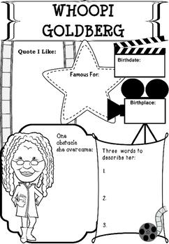 Graphic Organizer : Whoopi Goldberg