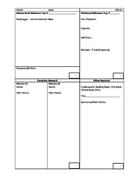 Graphic Organizer for Explanatory and Expository Essay Writing