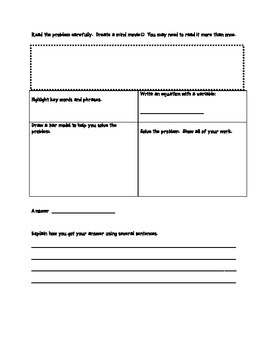 Graphic Organizer for Problem Solving