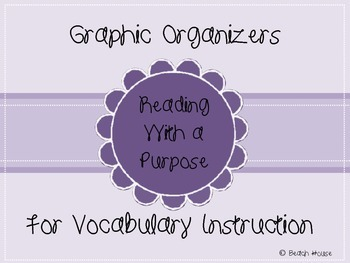 Graphic Organizers For Vocabulary Instruction