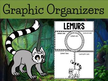 Graphic Organizers: Lemurs - Oceania Animals :Madagascar,