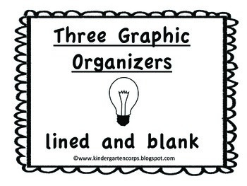 Graphic Organizers: Lined and Blank for Opinion Writing