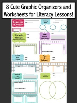 Graphic Organizers and Worksheets for Literacy Lessons!