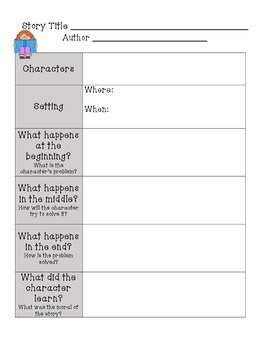 Graphic Organizers for Fiction Stories