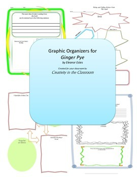 Graphic Organizers for Ginger Pye