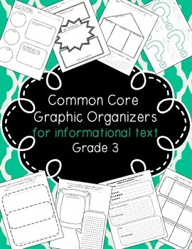 Organizers for Informational Text Pack: Common Core Aligned